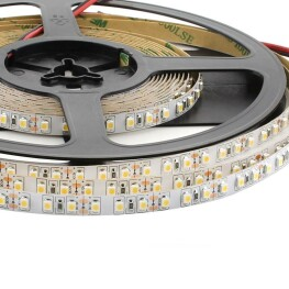 Tira LED HQ SMD3528, DC12V, 5m (120 Led/m) - IP20, Blanco neutro